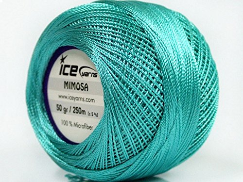 Turquoise Mimosa Size 10 Microfiber Crochet Thread