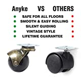 """Anyke 1.5"""" Ball Caster Small Caster Wheels for Sofa Furniture,Bench & Ottoman Using for Hardwood Floor"""