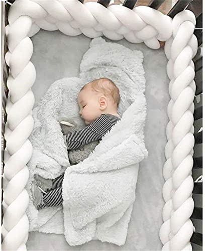 Baby Braided Crib Bumper Soft Snake Pillow Protective /& Decorative Long Baby Nursery Bedding Cushion Knot Plush Pillow for Toddler//Newborn 118inch Long