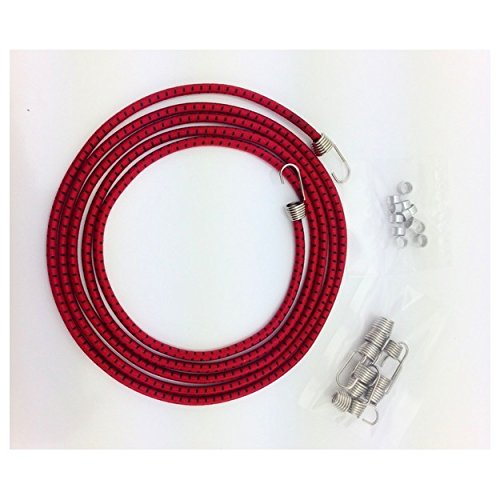 (Hot Racing ACC468K12 1/10 Scale Black red Bungee Cord Kit)