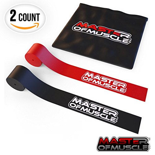 SPECIAL DEAL: Floss Bands - For Muscle Compression - Mobility and Recovery - Includes 2 x Flossing Bands For All Areas of the Body - Carrying Case and Bonus Ebook Included by Master of Muscle