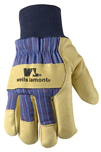 - Men's Winter Work Gloves with Leather Palm, 100-gram Insulation, X-Large (Wells Lamont 5127XL)