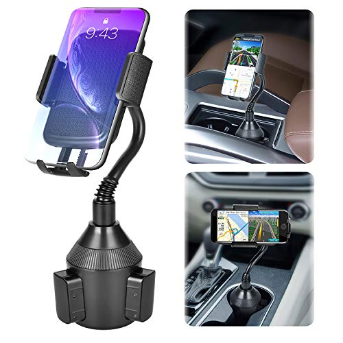Car Cup Holder Phone Mount,Universal Smart Phone Adjustable Automobile Cell Phone Mount for iPhone 11 pro/Xs/Max/X/XR/8/7 Plus Samsung Galaxy S10/S9/S8 Note 9 Sony、HTC、Huawei and Smartphones from LEXSO