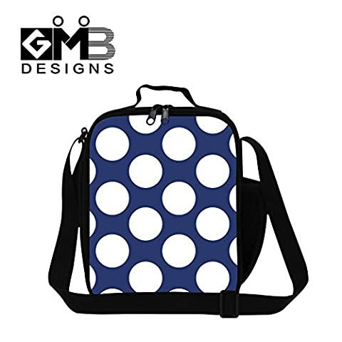 Generic Dot Printed Lunch Bags for Children Personalized Adult Work Lunch Box Bag - Dots Personalized Lunch Box
