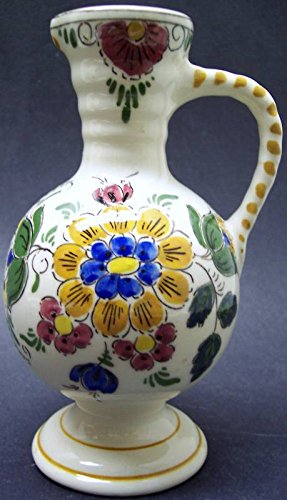 Gorgeous Vintage Velsen Real Gouda Holland Ewer Pitcher Handpainted Old Dutch