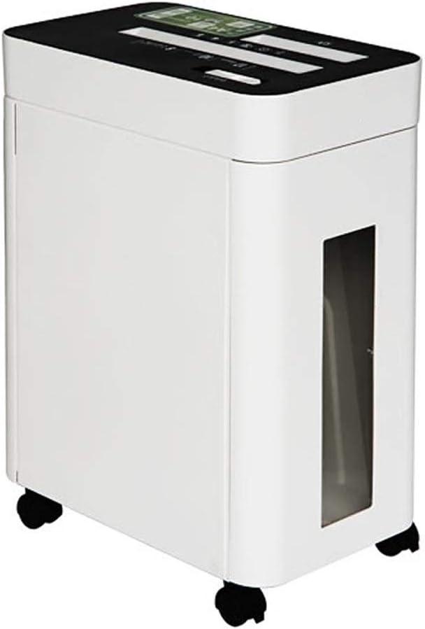 シュレッダー ハイパワーシュレッダー電動スモールオフィスホームミュートファイルシュレッダー電気自動 高セキュリティレベル (色 : White, Size : 49x36x23cm)