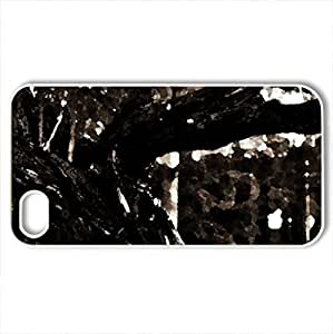 Aging - Case Cover for iPhone 4 and 4s (Forests Series, Watercolor style, White)