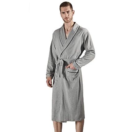 MERRYHE Los Hombres 100% Algodón Waffle Terry Toalla Mantón Kimono Batas Batas Albornoz Pijamas De