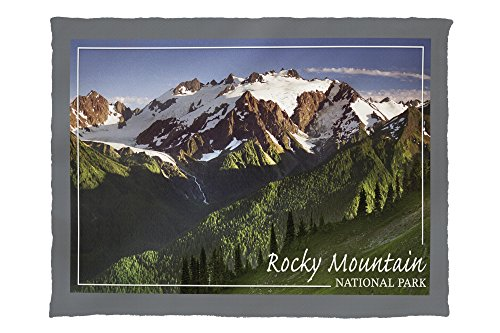 Rocky Mountain National Park, Colorado - Mountains and Trees (60x80 Poly Fleece Thick Plush Blanket)