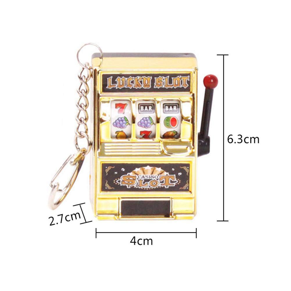 Petit et portable 2.7 4 6.3cm Mini Machine /à Sous Porte-cl/és Pocket Keychain pour hommes et femmes