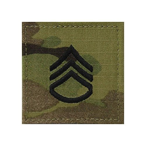 Military Rank Sergeant (US Army OCP Multicam Rank Sew-on for Shirt - Staff Sergeant)