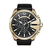 Diesel Men's Mega Chief Quartz Stainless Steel and Leather Chronograph...