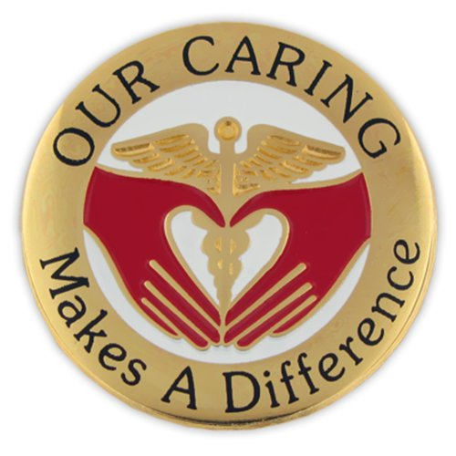 - PinMart Our Caring Makes a Difference Nurse Lapel Pin