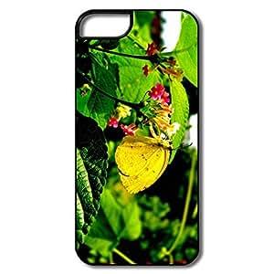 Cool Yellow Butterfly Flower IPhone 5/5s Case For Friend wangjiang maoyi