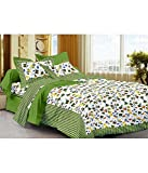 Jaipuri Designer Printed Rajasthani Traditional 210 TC Cotton Double Bedsheet with 2 Pillow Covers - Modern, Multicolour
