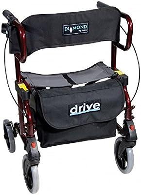 Rollator silla con ruedas plegable Drive Diamond Deluxe ...