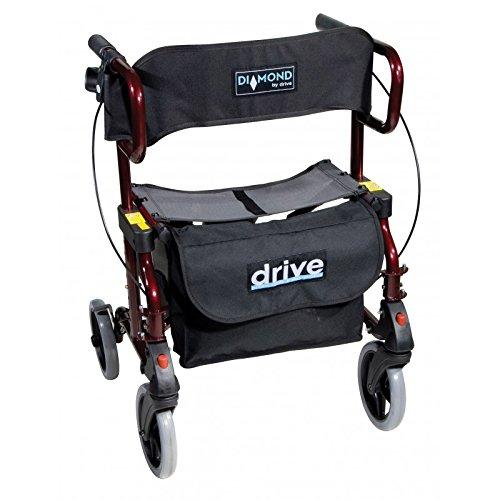 Rollator silla con ruedas plegable Drive Diamond Deluxe: Amazon.es: Salud y cuidado personal