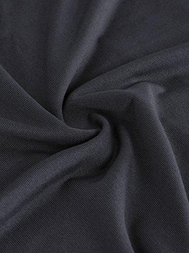 Playa Verano para Plisado Vestido Corta A Incluso HENCY Vacacciones Elástica Cintura gris Oscuro Cuello para Mujeres Manga Line Larga de Manga Elegante Otoño Maternidad V Larga WvwxPxdT8q