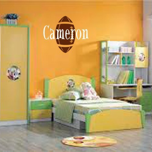 Personalized Monogram Kids Wall Decals - Boys Wall Decal- Name Vinyl Lettering - baby boy nursery wall decal Cameron Football