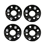 ZY WHEEL 4PCS Hubcentric Wheel Spacers 1'' (25mm) 4x100 to 4x100 4Lug 56.1mm Bore with 12x1.5 Studs for Acura Integra Honda Civic Fit Insight Mini Cooper (Black)