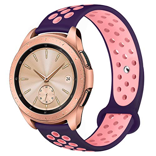 (YiJYi Compatible for Samsung Galaxy Watch 42mm Band/Galaxy Watch Active 40mm Bands, 20mm Silicone Strap Sports Replacement Wristband Women Men for Samsung Galaxy Watch (Small(5.5
