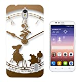 459 - Vintage Clock Alice In Wonderland Design Huawei Ascend Y635 Fashion Trend CASE Gel Rubber Silicone All Edges Protection Case Cover