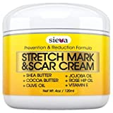 Rosehip Oil Red Marks Stretch Marks & Scars Cream  Best for Stretch Mark Removal - Body Moisturizer for Prevention and Reduction of Old & New Scars - Natural & Organic for Pregnancy, After Birth, Women, & Men - By Sieva Skincare