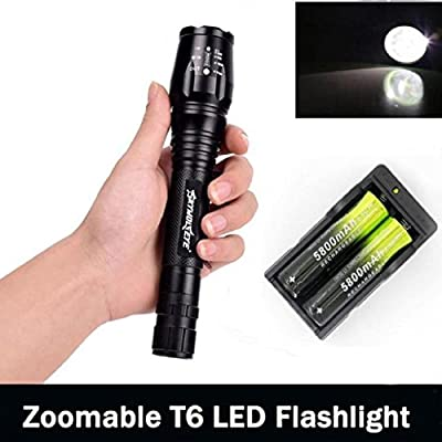 Kikisale SKYWOLFEYE Zoomable 4000 Lumen 5 Modes CREE XML T6 +2 Battery+ Charger