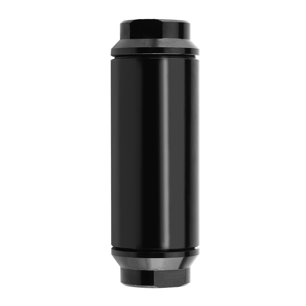 Acouto Universal 44mm Car Inline Oil Fuel Filter with AN6 AN8 Adapter Fittings Aluminum