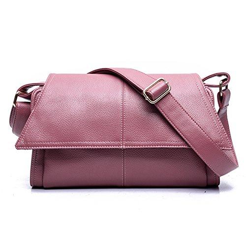 rouge Litchi sac sacs Bandoulière Une nouvelle sauvages sacs rétro mode à modèle pour filles rose besaces main simple awYFqw