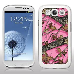 Samsung Galaxy S3 Case - Pink Hunting Camo - WHITE Protective Hard Case