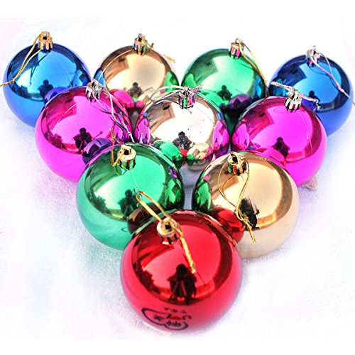 """Christmas Tree Decor Ball Bauble Hanging Xmas Party Ornament decorations for Home Christmas decorations 24pcs/lot (1.2"""", Green)"""