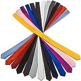 Slim Krawatte M´Karlo extra schmale Smoking Anzug Business Hochzeit Krawatte einfarbig in 30 Satin-Glanz Farben