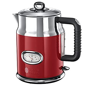 Russell Hobbs 21670-70 Bouilloire filtre Retro Rouge 1,7 L 2400 W