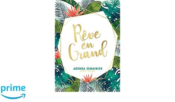 Agenda Semainier 2019 2020 - Rêve en Grand: Idéal pour la ...