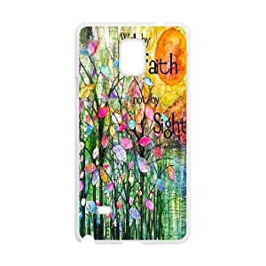Qxhu Christian & Bible Verses Quotes Hard Plastic Cover Case for Samsung Galaxy Note4