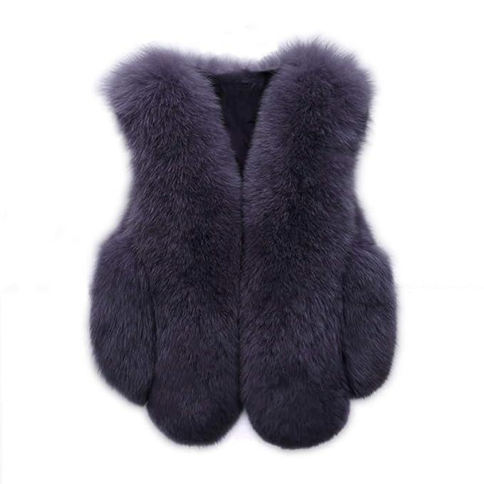 Winter Women Warm Gilet Outwear Vest Faux Fur Waistcoat Casual Loose Jacket Coa