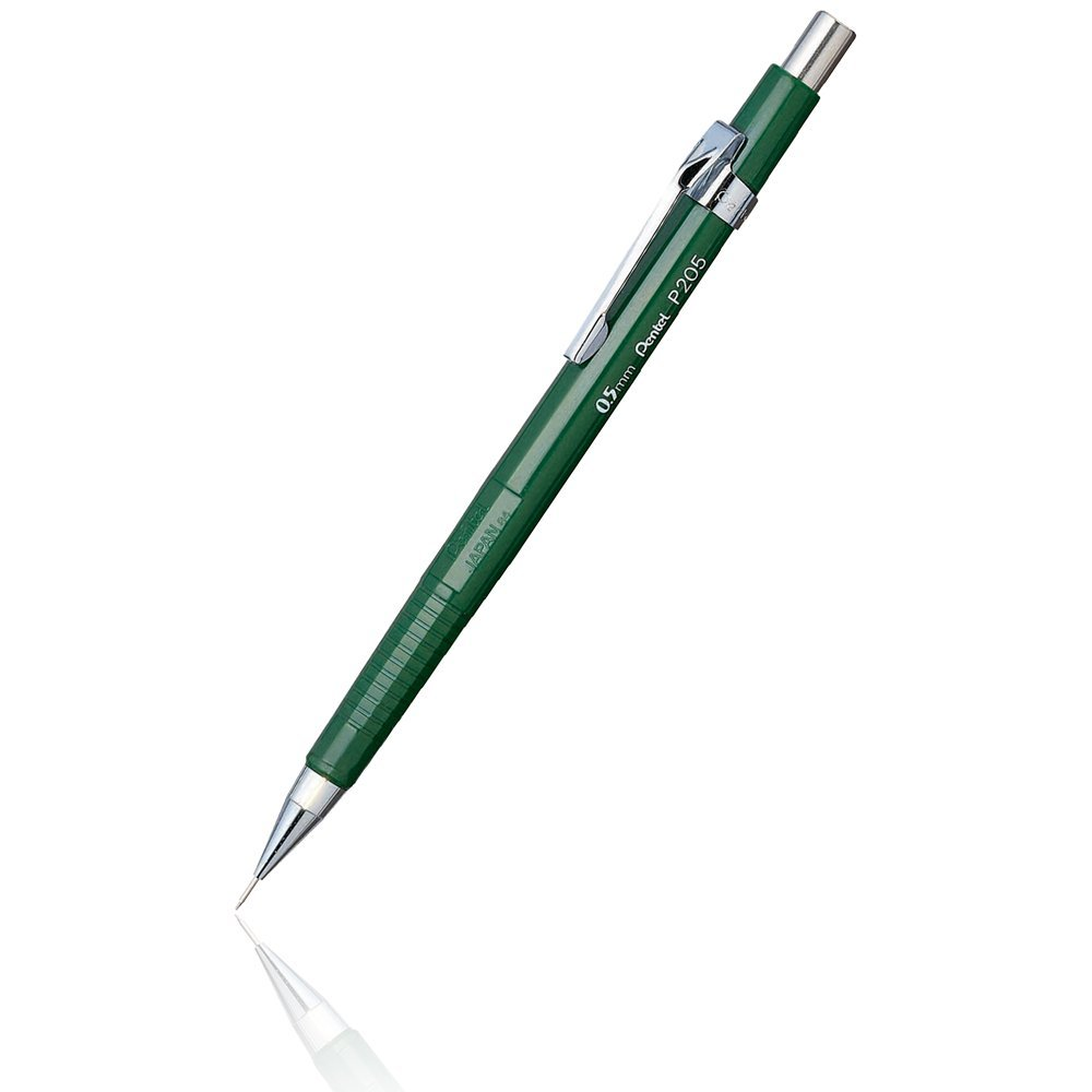 Pentel P205-D - Lápiz mecánico (Verde, 0,5 mm)