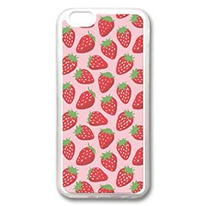 iphone 5 5s Case, Strawberry Pattern Custom Case for iphone 5 5s Soft TPU Material Transparent