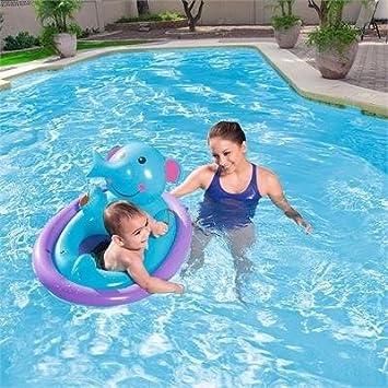 Flotadores para bebes, niñas y niños para la playa y la piscina: Elefante azul. 100% Seguros y que cumplen la normativa EU.: Amazon.es: Juguetes y juegos