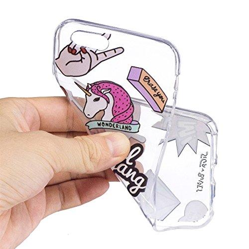 inShang funda para iPhone 8 Plus 5.5inch funda del teléfono móvil, anti deslizamiento, ultra delgado y ligero, Estuche, Cubierta, carcasa suave hecho en el material de la TPU, cómodo Case Cover for iP Diamond Horse