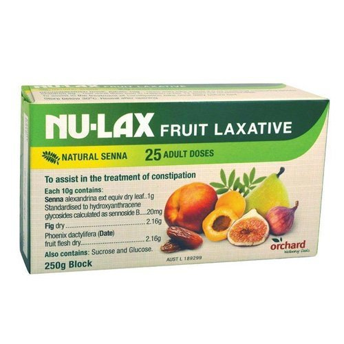 Nulax Fruit Laxative Block 250g Made From Pure Dried Fruits Made in Australia (3 Pack) by NULAX