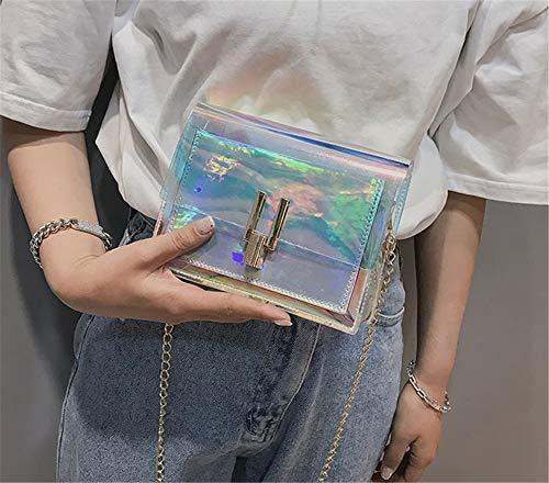 accessoires à Voyage Crossbody Vêtements PU Gelée femmes Messenger Argent bandoulière Sac imperméable Argent pour Transparent sac Paquet sac Paquet laser laser dXw55Pxq
