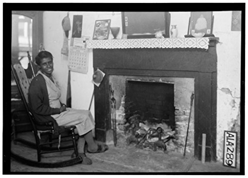 8 x 12 Photo 12. Historic American Buildings Survey Alex Bush, Photographer, April 10, 1935 Fireplace in Slave Quarters - Webb House, 520 Main Street, Greensboro, Hale County, AL After 1933 77a by Vintography