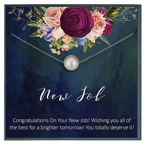 Grace of Pearl New Job Gift for Woman, Congratulations Gift New Job, Colleague Leaving Gift, New Job Gifts for Her, Coworker Go Away Leaving (Best Gift For Teacher Farewell)