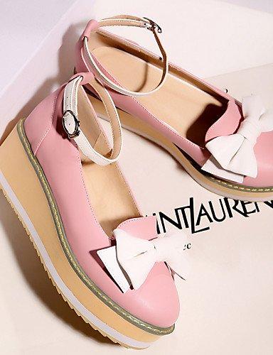 PDX/ Damenschuhe - High Heels / Ballerinas / Halbschuhe - Outddor / Kleid / Lässig - Kunstleder - Plateau - Wedges / Plateau - Rosa / Beige , pink-us10.5 / eu42 / uk8.5 / cn43 , pink-us10.5 / eu42 / u