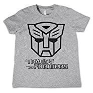 Officially Licensed Merchandise Autobot Logo Unisex Kids T Shirts - H.Grey 3/4 Years