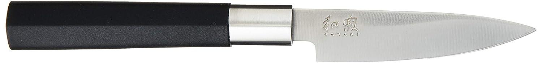 Kai 67S-310 6710P, 6715U, 6716S Wasabi Black - Juego de Cuchillos asiáticos (3 Unidades de 10, 15 y 16,5 cm), Color Negro