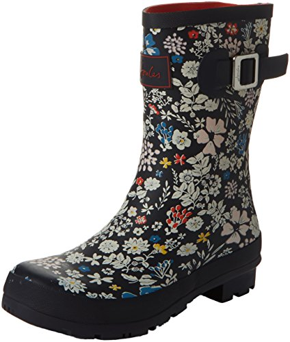 Joules WoMen Mollywelly Wellington Boots Blue (French Navy Ria Ditsy)