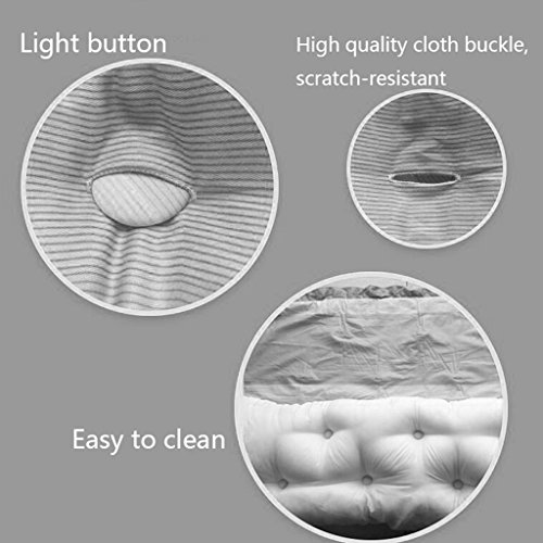Lumbar Pillows Bed Pillows Positioners Cushion Bed Headrest Living Room Sofa Waist Pillow Double Bedding Soft Bag Large Backrest Washable Linen Bedside Cushion Tatami by Lumbar Pillows (Image #5)